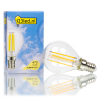 123led E14 filament led-lamp kogel dimbaar 4.5W (40W)