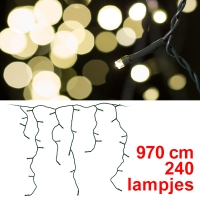 123led kerst ijspegelverlichting 240 lampjes led warm wit lko00046
