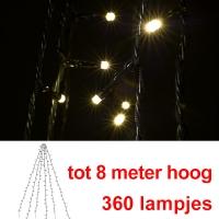 Kerst led vlaggenmast verlichting 360 lampjes 123led 123led.nl