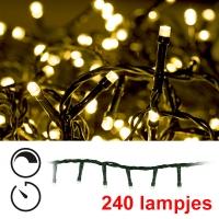 Led Kerstverlichting 240 Lampjes Extra Warm Wit Met Timer En Dimmer