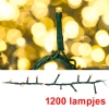 Micro-cluster led kerstverlichting 1200 lampjes 24 meter extra warm wit