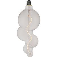 123led XXL lamp Bubble-5 FleX Clear dimbaar (E27, 4W, 2200K) 123led huismerk  LDR06158