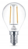 Philips Classic E14 filament led-gloeilamp kogel 2W (25W)  LPH00292