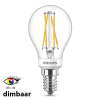 Philips E14 filament led-gloeilamp kogel WarmGlow dimbaar CRI>90 3.5W (25W)  LPH01259