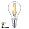 Philips E14 filament led-gloeilamp kogel WarmGlow dimbaar CRI>90 6W (40W)  LPH01261