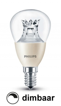 Philips E14 led-lamp kogel WarmGlow dimbaar 6W (40W) Philips 123led.nl