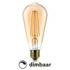 Philips E27 Classic led ST64 flame 2200K dimbaar 7W (50W)  LPH00259
