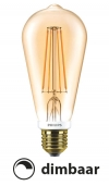 Philips E27 Classic led ST64 flame 2500K dimbaar 7W (55W)  LPH00260