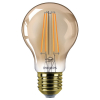 Philips E27 filament flame led-gloeilamp peer dimbaar 8W (50W)