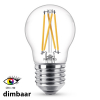 Philips E27 filament led-gloeilamp kogel WarmGlow dimbaar CRI>90 3.5W (25W)  LPH01255