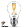 Philips E27 filament led-gloeilamp kogel WarmGlow dimbaar CRI>90 6W (40W)  LPH01257