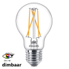 Philips E27 filament led-gloeilamp peer WarmGlow dimbaar CRI>90 6.7W (40W)