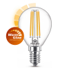 Signify Philips E14 WarmGlow dimbare filament led lamp kogel CRI>90 3.2W (25W)  LPH02409