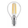 Signify Philips E14 WarmGlow dimbare filament led lamp kogel CRI>90 4.5W (40W)  LPH02407