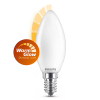 Signify Philips E14 WarmGlow dimbare led lamp kaars mat 4.5W (40W)  LPH02449