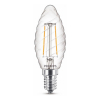 Signify Philips E14 filament led lamp kaars ST35 warm wit 2W (25W)  LPH02441