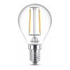Signify Philips E14 filament led lamp kogel warm wit 2W (25W)  LPH02394
