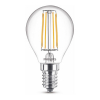 Signify Philips E14 filament led lamp kogel warm wit 4.3W (40W)  LPH02396