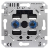 Tradim 2492HP LED tronic duo dimmer 2x 5-100W (Fase Afsnijding)
