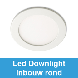 Led downlight inbouw rond