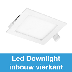 Led downlight inbouw vierkant