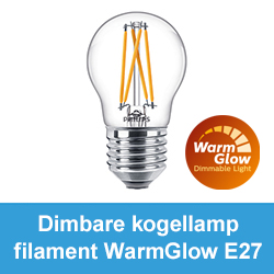 Dimbare kogellamp filament WarmGlow E27