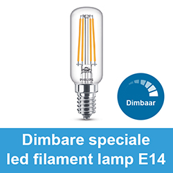 Dimbare speciale led filament lamp E14