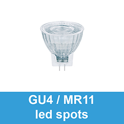 GU4 / MR11 led spots