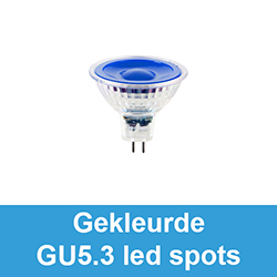 Gekleurde GU5.3 / MR16 led spots