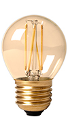 Filament led E27 kogel goud