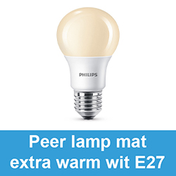 Peer lamp mat extra warm wit E27