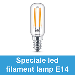 Speciale led filament lamp E14