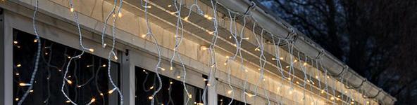 de led lampjes zijn zo gemonteerd dat ze een ijspegel effect creren wie wil nou geen ijspegels aan de dakrand zoals op wintersport