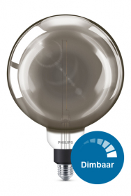 Dimbare led filament XXL lamp smoky E27
