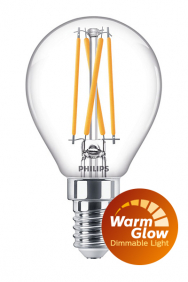 Dimbare kogellamp led filament WarmGlow E14