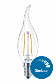 Dimbare sierkaars led filament lamp E14