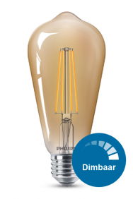 Dimbare led filament lamp rustiek E27