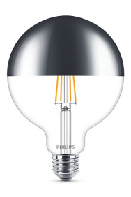 Kopspiegel bollamp led filament E27