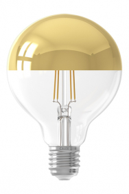 Kopspiegel gouden bollamp led filament E27