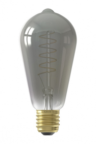 Led filament ST64 lamp titanium E27