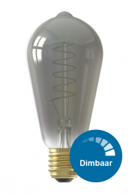 Dimbare led filament ST64 lamp titanium E27